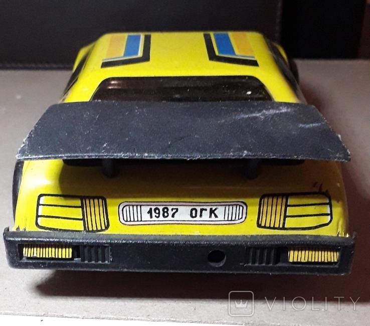 Винтажная машина гоночная СПРИНТ Авторалли,жесть, из СССР, фото №6