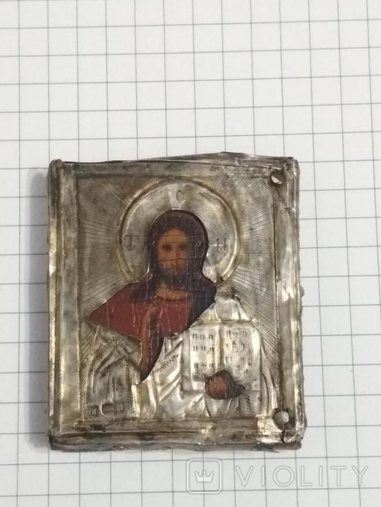 Иконка в серебряном окладе под реставрацию.(4-4.7см), фото №5