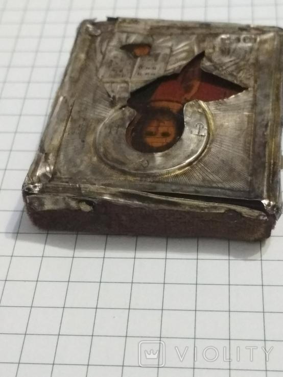 Иконка в серебряном окладе под реставрацию.(4-4.7см), фото №7