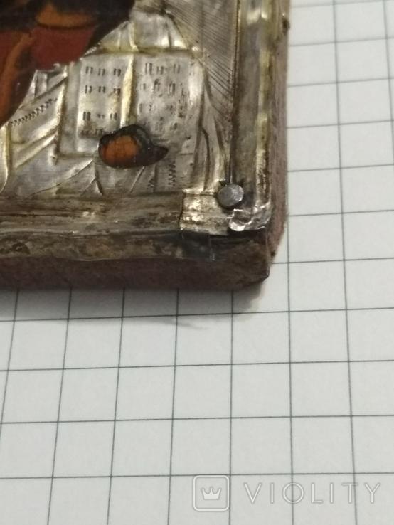 Иконка в серебряном окладе под реставрацию.(4-4.7см), фото №9