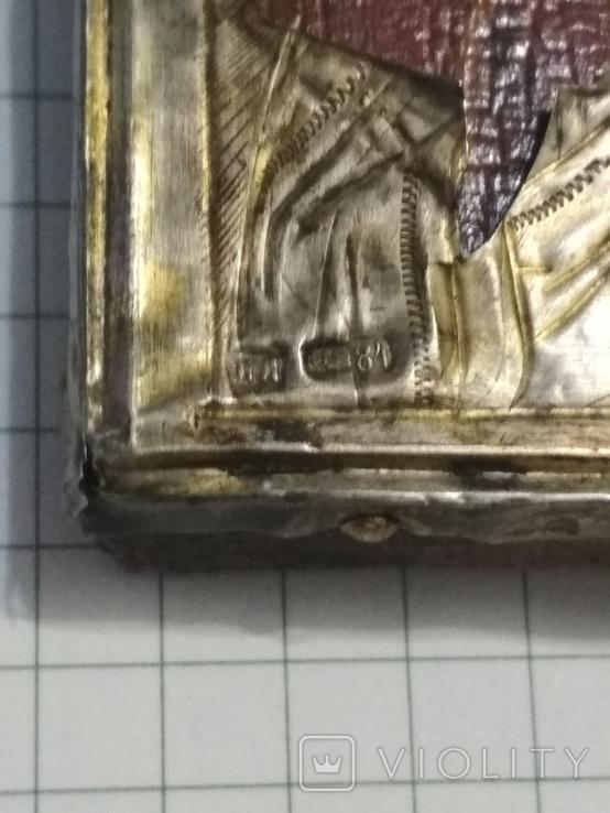 Иконка в серебряном окладе под реставрацию.(4-4.7см), фото №13