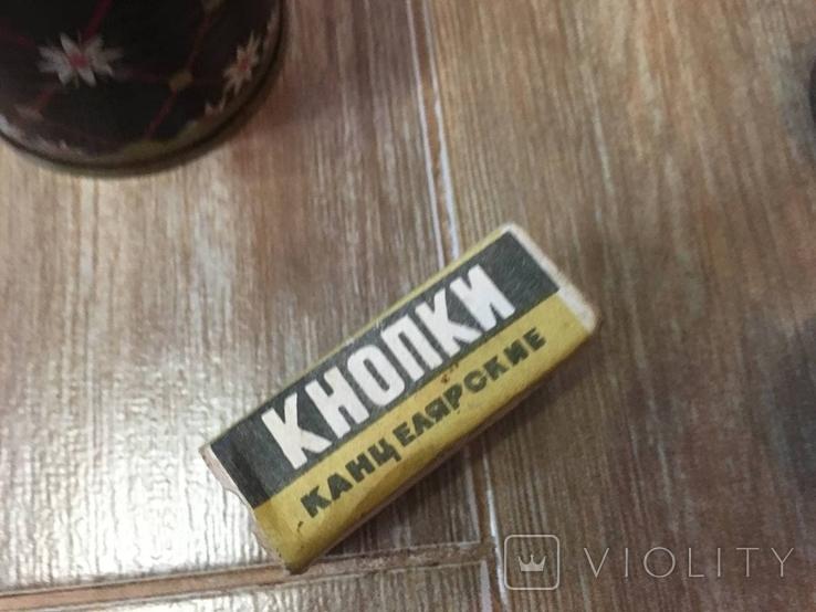 Баночки жестяные СССР + картонная упаковка кнопок, фото №5
