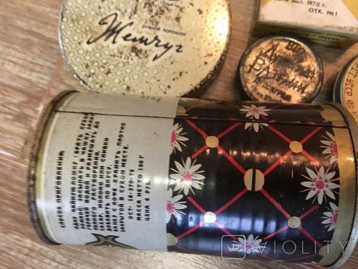 Баночки жестяные СССР + картонная упаковка кнопок, фото №9