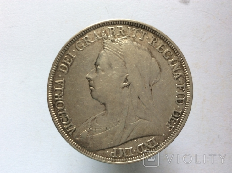 Крона Англия 1895 г, фото №2
