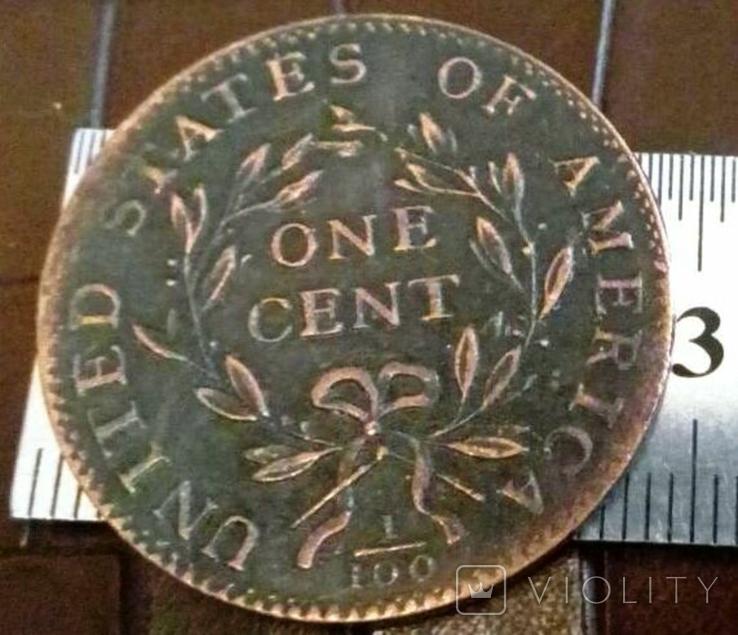 1 цент 1794 року США / точна копія, фото №3