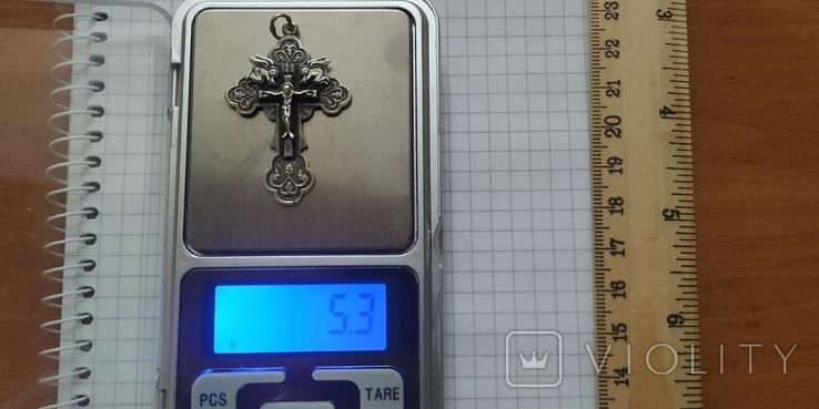 Крестик нательный.серебро, фото №3
