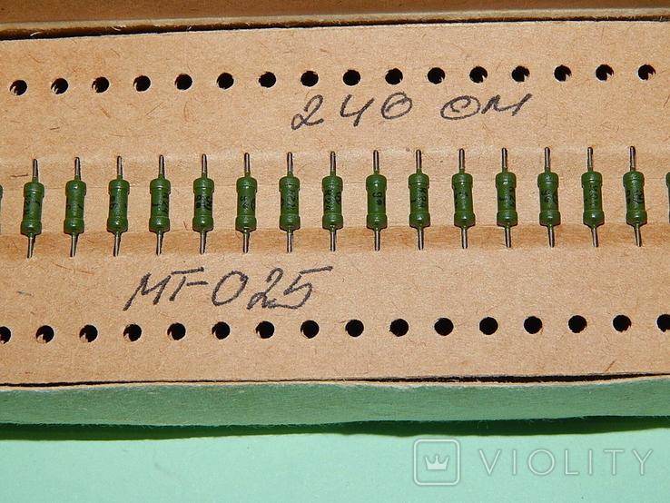 Резисторы МТ-0,25/240 ом, фото №4