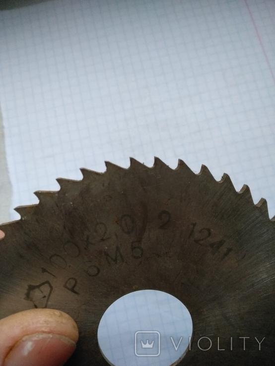Фреза отрезная, 100 х 2 мм, диаметр отверстия 27 мм, сталь р6м5., фото №4