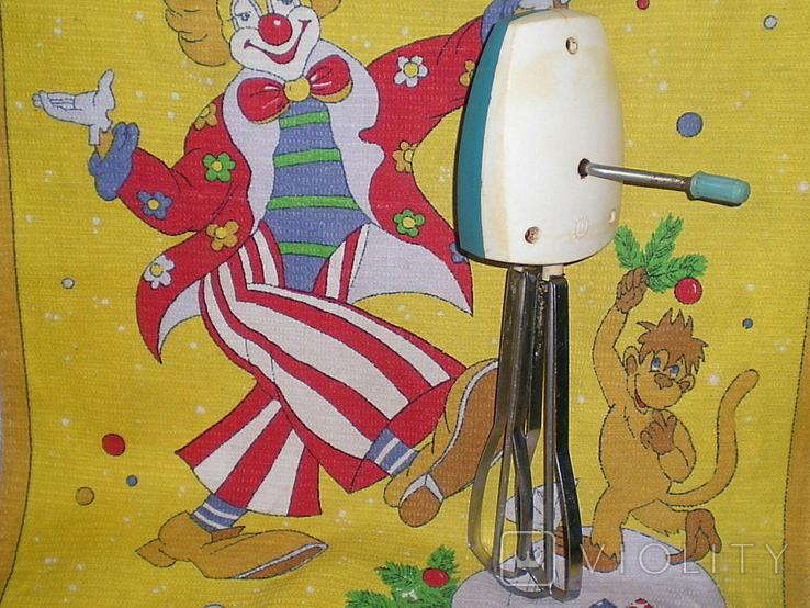 Миксер механический (ручной),СССР, 60-е гг.,в рабочем состоянии., фото №2