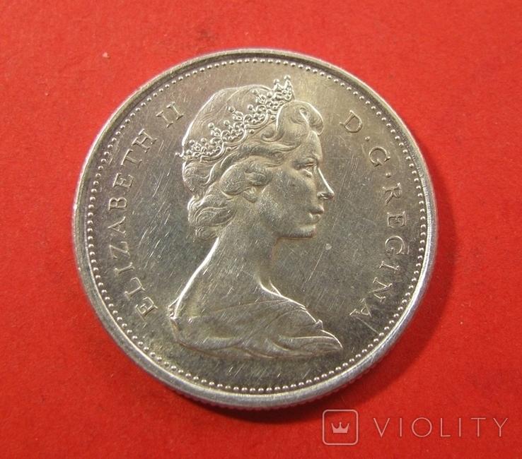 Канада 25 центів 1967, фото №3