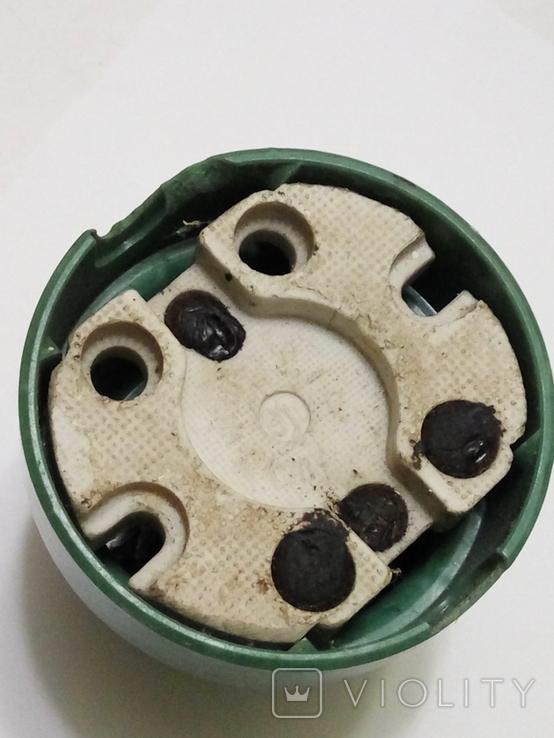 Кнопка, електро пускач (пускатель) з бакеліту (СССР), фото №7