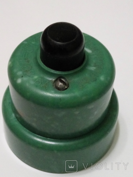 Кнопка, електро пускач (пускатель) з бакеліту (СССР), фото №11