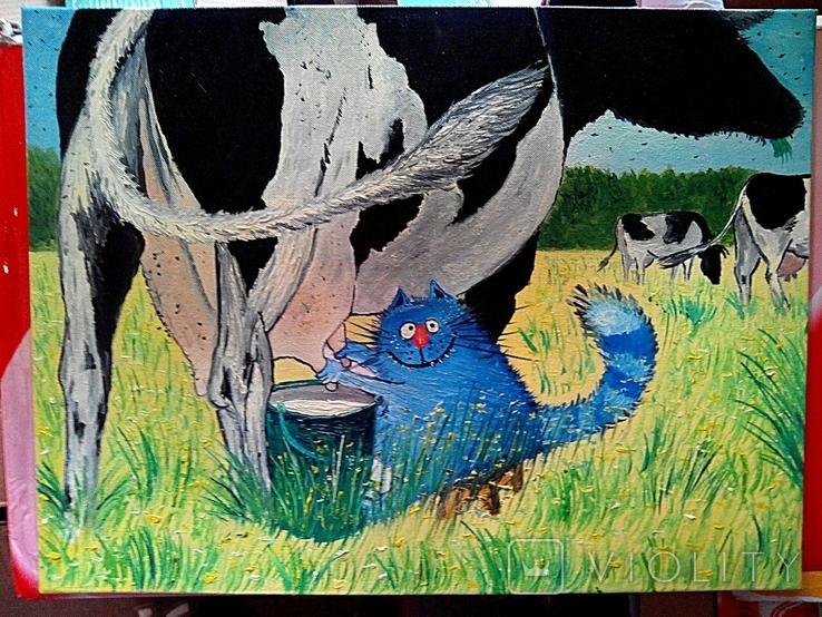 Картина копия  Холст Масло На Двп Ручная Работа 30*40см