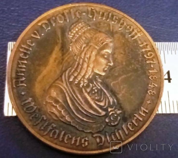 500 МАРОК 1923 року Вестфалія /НІМЕЧЧИНА / копія , не магнітна , бронза, фото №3