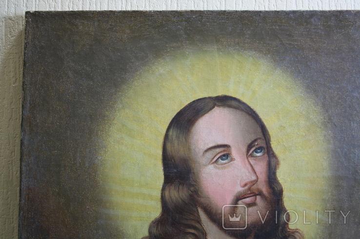 Спаситель с хлебом 91х66 1869г., фото №7