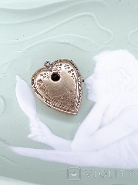 Кулон серебро 875 проба ., фото №2