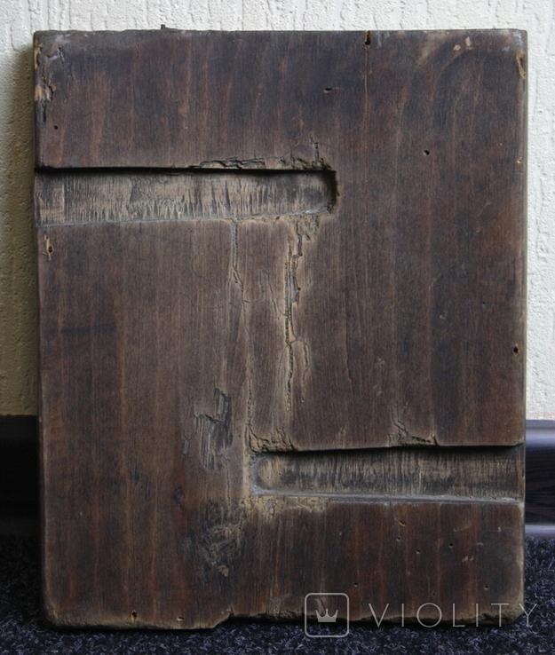 Покрова 29х24 доска ковчег 17-18 век. письмо 19 век., фото №12