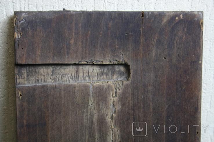 Покрова 29х24 доска ковчег 17-18 век. письмо 19 век., фото №13
