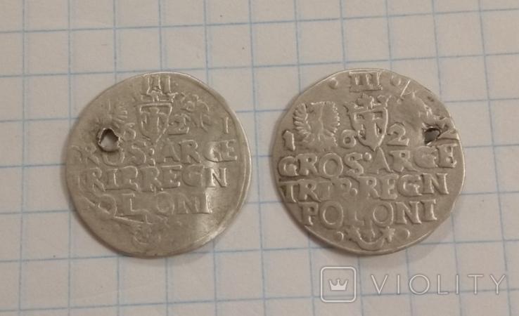 Трояки 1621, 1622 гг. ( 2 шт.), фото №5
