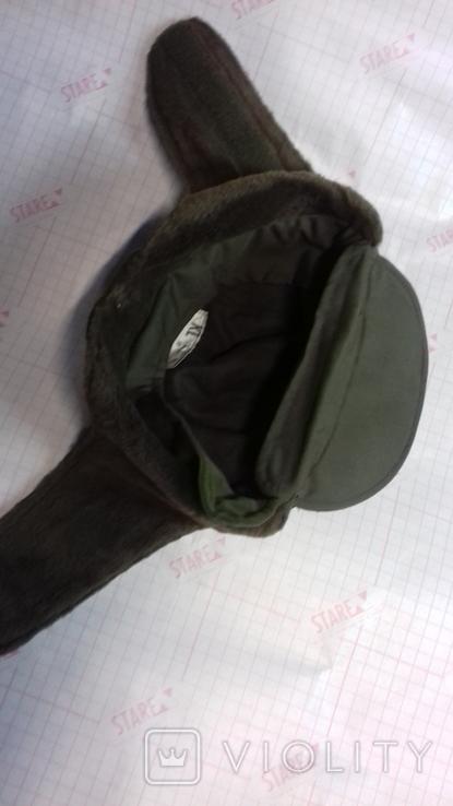 военная зимняя кепи-шапка. зарубежка.лот № 98, фото №4