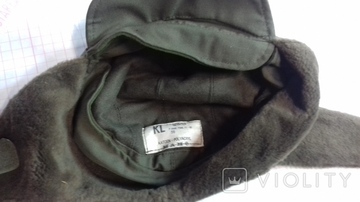 военная зимняя кепи-шапка. зарубежка.лот № 55, фото №5