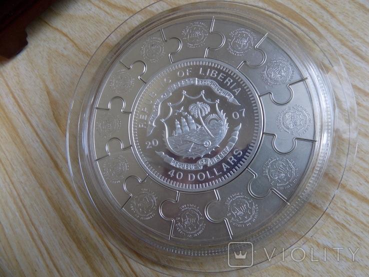 Монета пазл 12 апостолов,Серебро 1 килограмм.., фото №6