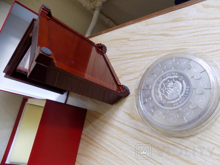 Монета пазл 12 апостолов,Серебро 1 килограмм.., фото №7
