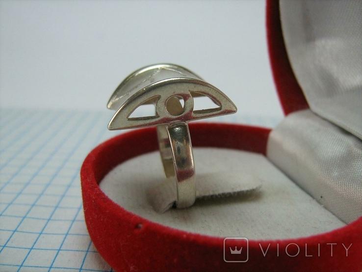 Серебряное Кольцо Размер 16.5 Пэчворк Лоскутный Узор Матовый 925 проба Серебро 775, фото №4