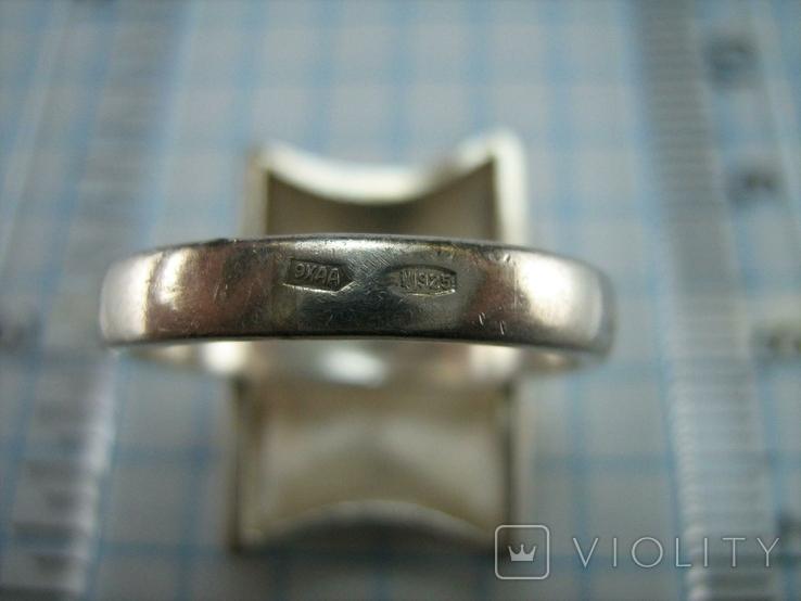 Серебряное Кольцо Размер 16.5 Пэчворк Лоскутный Узор Матовый 925 проба Серебро 775, фото №5