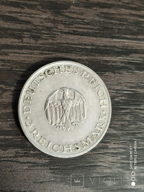 "3 марки 1929г.""Лессинг"", фото №6"