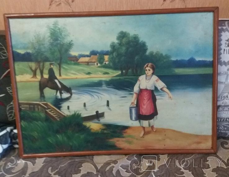 """""""Несе Галя воду"""" Николай Псуненко копия, 50-60х годов., фото №3"""