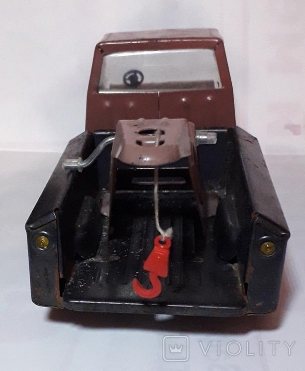 Винтажная Машинка Эвакуатор Кран СССР .ДЗИ Металическая.длина 20 см., фото №4