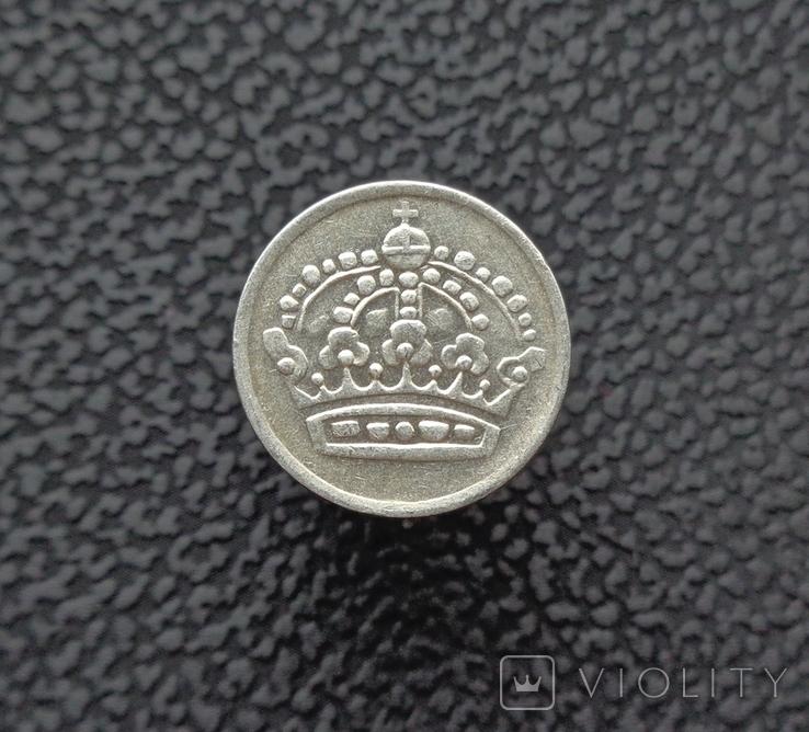 Швеция 10 эре 1956 серебро, фото №3