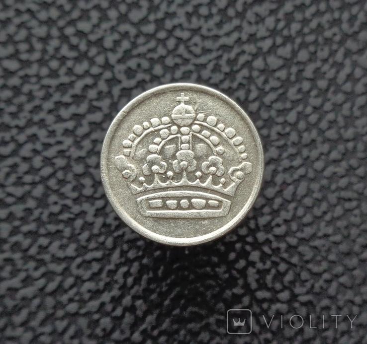Швеция 10 эре 1960 серебро, фото №3