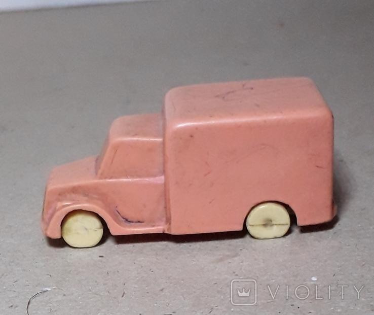 Миниатюрная машинка грузовик СССР 60-70-е годы,клемо,длина 5,5 см., фото №2