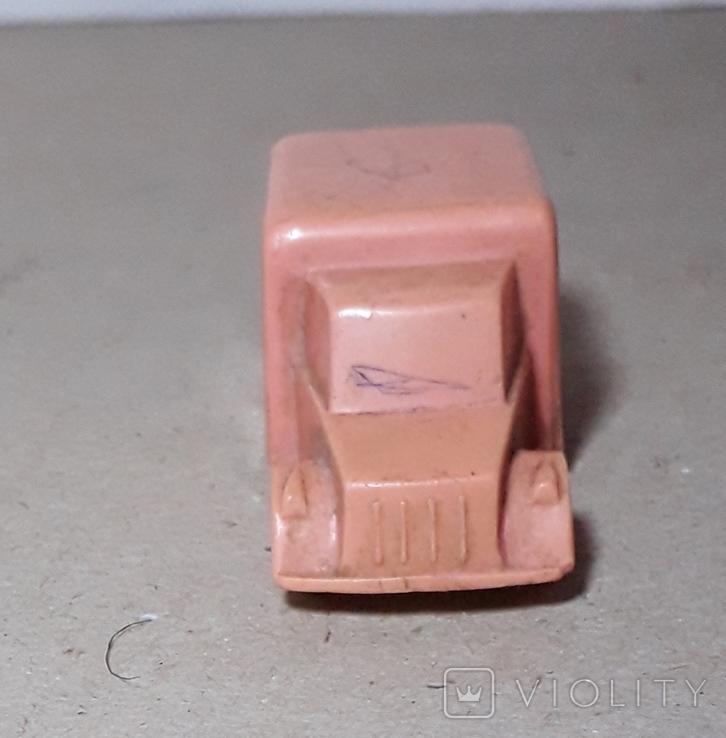 Миниатюрная машинка грузовик СССР 60-70-е годы,клемо,длина 5,5 см., фото №7