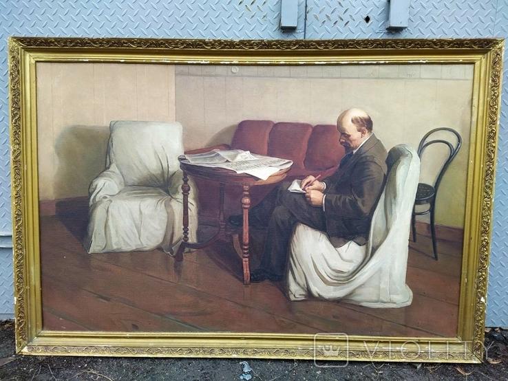 Картина с Лениным 90/140см. копия, фото №2