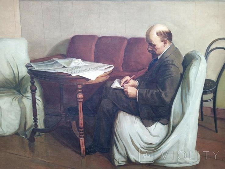 Картина с Лениным 90/140см. копия, фото №3