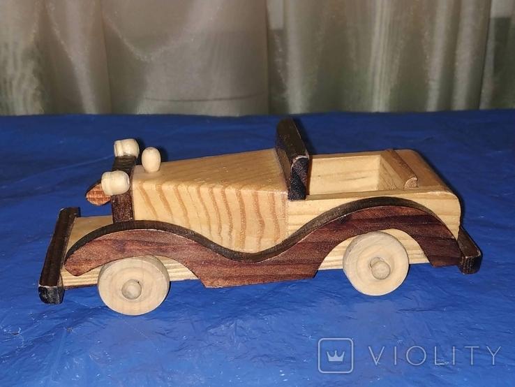 Ретроавтомобиль деревянный, фото №3