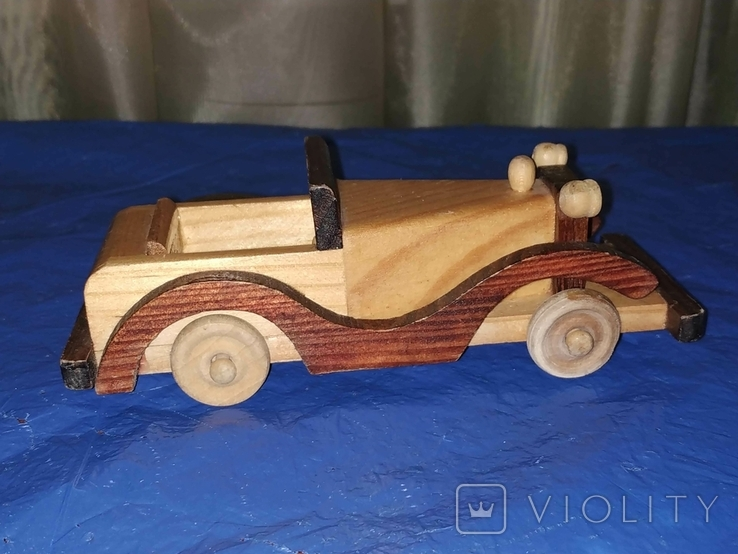 Ретроавтомобиль деревянный, фото №5