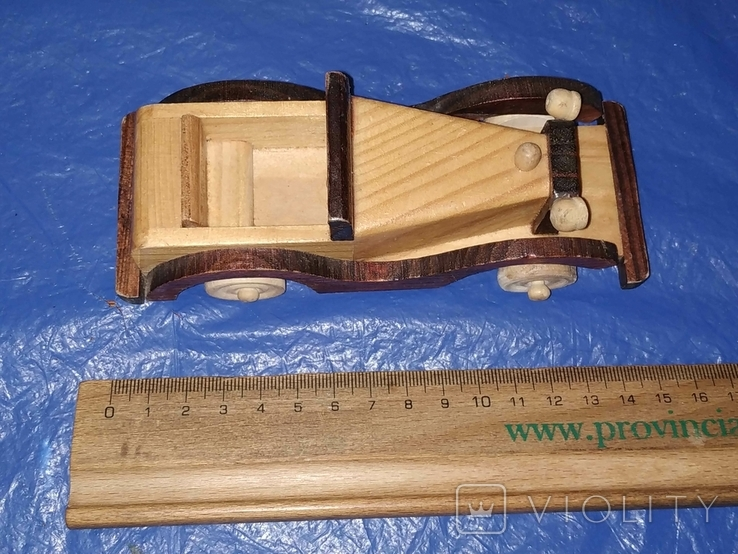 Ретроавтомобиль деревянный, фото №7