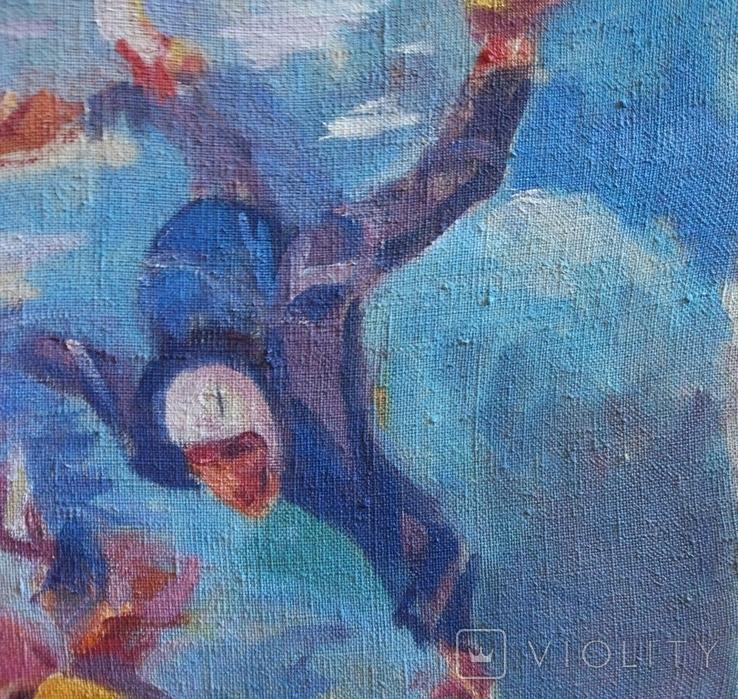 "В.Кнышевский""Над облаками"", х.м.44*54см,1980, фото №4"