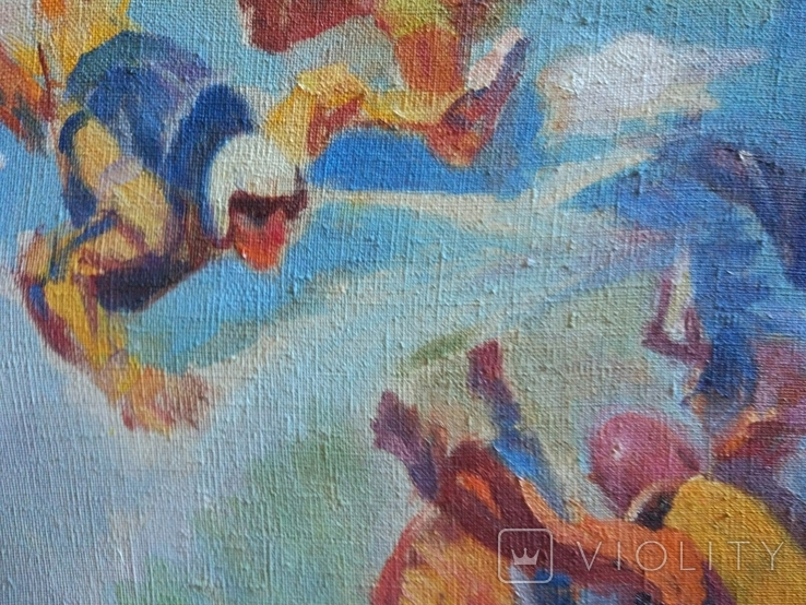 "В.Кнышевский""Над облаками"", х.м.44*54см,1980, фото №5"