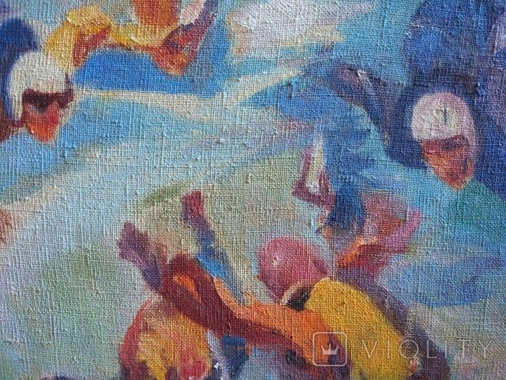 "В.Кнышевский""Над облаками"", х.м.44*54см,1980, фото №7"