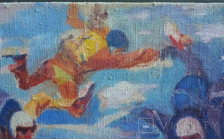 "В.Кнышевский""Над облаками"", х.м.44*54см,1980, фото №10"