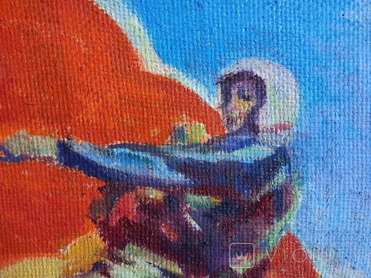 """В.Кнышевский""""Парашютисты"""", х.м.60*123см,1982г, фото №3"""