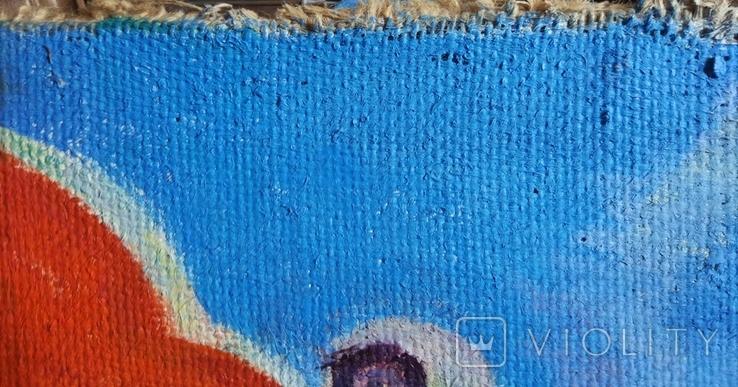 """В.Кнышевский""""Парашютисты"""", х.м.60*123см,1982г, фото №5"""
