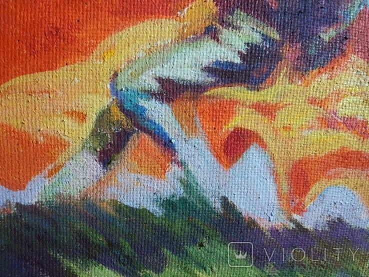 """В.Кнышевский""""Парашютисты"""", х.м.60*123см,1982г, фото №9"""