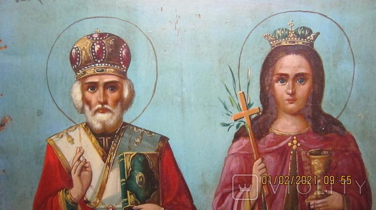 Святой хрс Николай и Святая муч. Варвара, фото №4