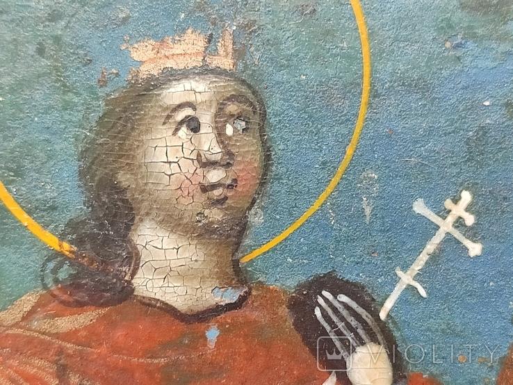 Икона. Св.Екатерина, Св.Мч.Ирина, Св.Муч.Наталия., фото №5